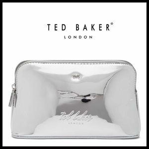 TED BAKER METALLIC MEDIUM COSMETICS BAG A3C